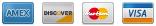 Credit Card - Visa, Mastercard, Discover, Amex